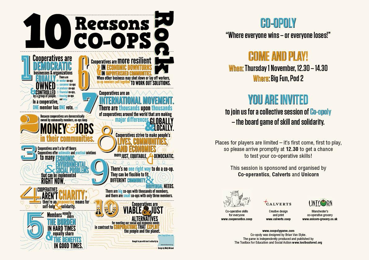 Co-ops rock flyer